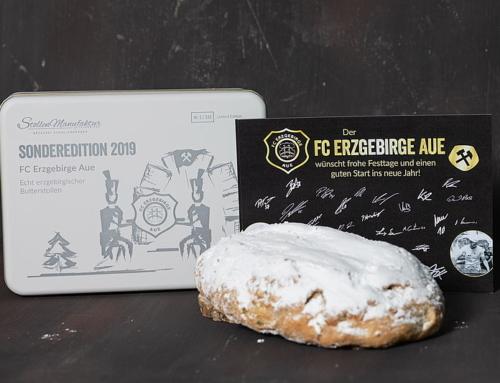 Weihnachtsstollen – Sonderedition  FC Erzgebirge Aue (limitierte Edition) 333 Stück